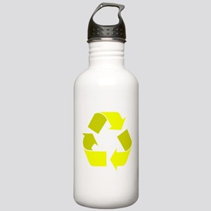 yellow recycle symbol Water Bottle