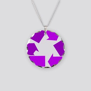 purple recycle symbol.png Necklace