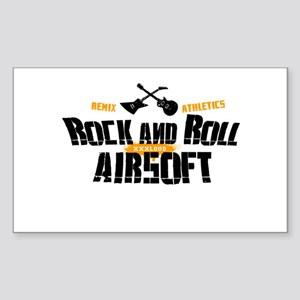 Rock and Roll Airsoft Rectangle Sticker