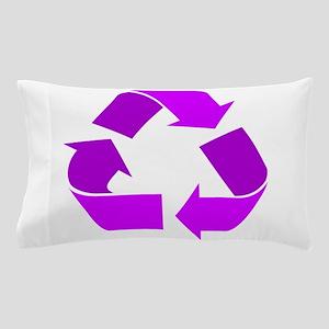 purple recycle symbol Pillow Case
