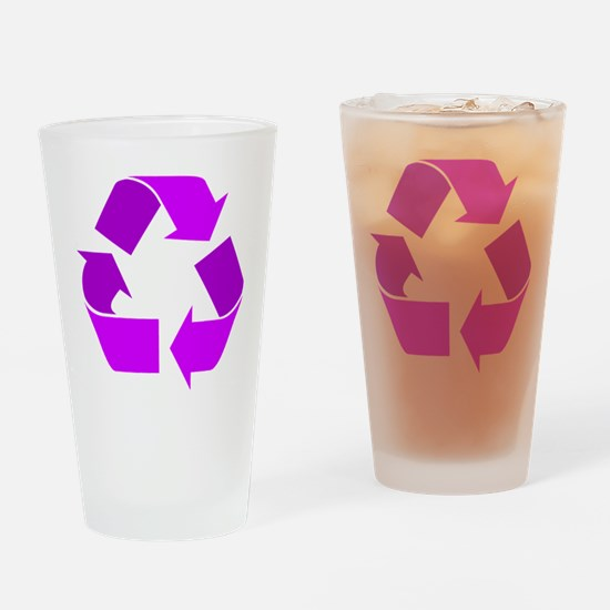 purple recycle symbol.png Drinking Glass