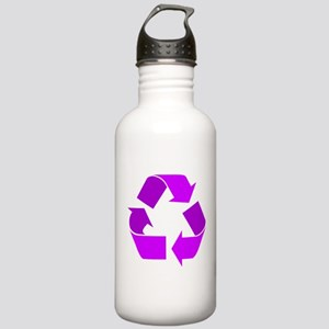 purple recycle symbol.png Water Bottle