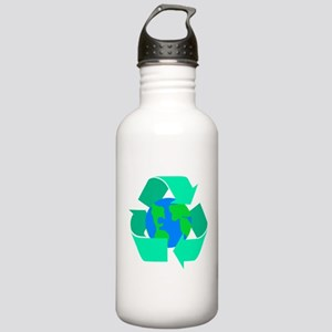 sea green recycle symbol alround the earth Wat
