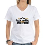 Rock and Roll Beer League Women's V-Neck T-Shirt
