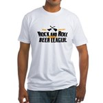 Rock and Roll Beer League Fitted T-Shirt
