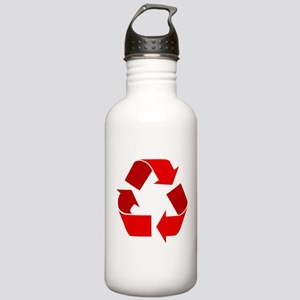 red recycle symbol Water Bottle
