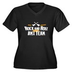 Rock and Roll Bmx Team Women's Plus Size V-Neck Da