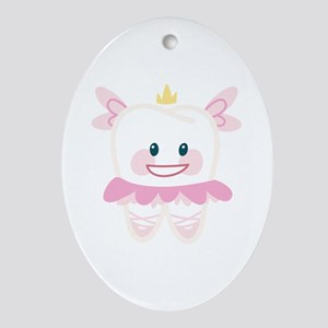 Toothy Fairy Ornament (Oval)