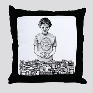 Nancy Reagan Throw Pillow