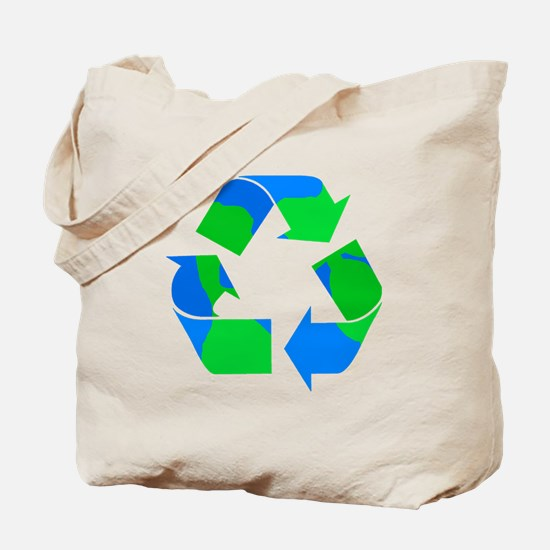 recycle symbol made of the earth.png Tote Bag