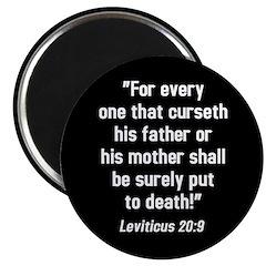Leviticus 20:9 Magnet (10 pk)