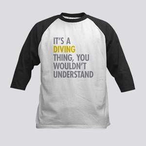 Its A Diving Thing Kids Baseball Jersey