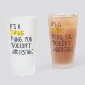 Its A Diving Thing Drinking Glass