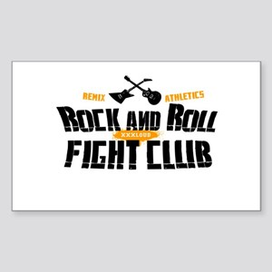 Rock and Roll Fight Club Rectangle Sticker