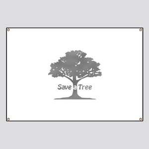 gray save a tree Banner
