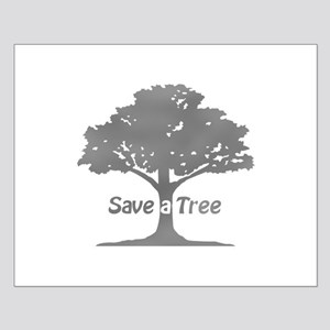 gray save a tree Posters