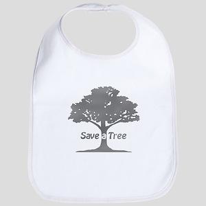 gray save a tree Bib