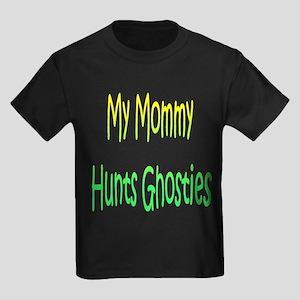 Mommy Hunts Ghosties Kids Dark T-Shirt