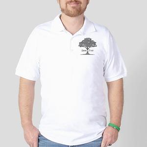 gray save a tree Golf Shirt