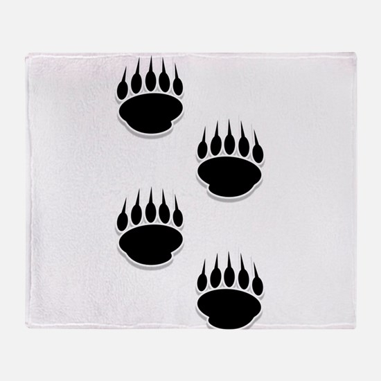 Cute Bear paw print Throw Blanket