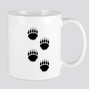 Black Bear Paw Prints Mugs