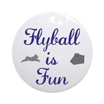 Flyball is Fun Ornament (Round)