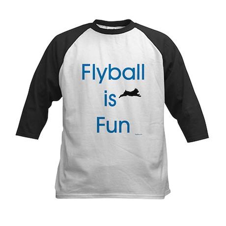 Flyball is Fun Kids Baseball Jersey