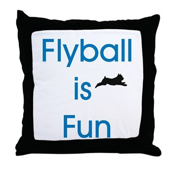 Flyball is Fun Throw Pillow