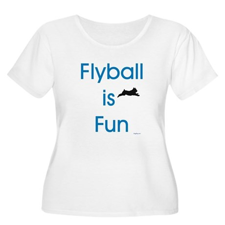 Flyball is Fun Women's Plus Size Scoop Neck T-Shir