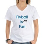 Flyball is Fun Women's V-Neck T-Shirt