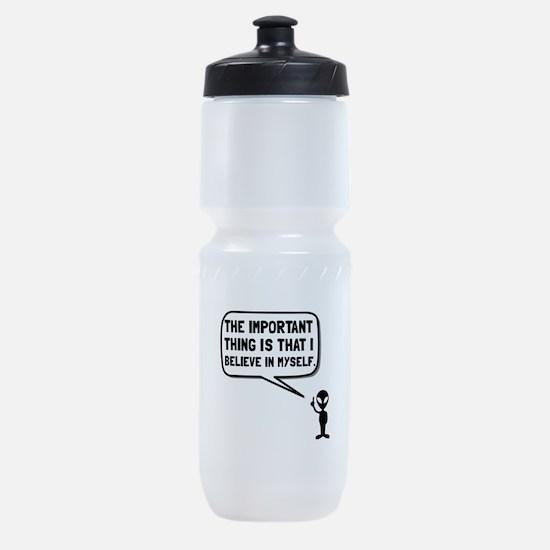 Alien Believe In Myself Sports Bottle