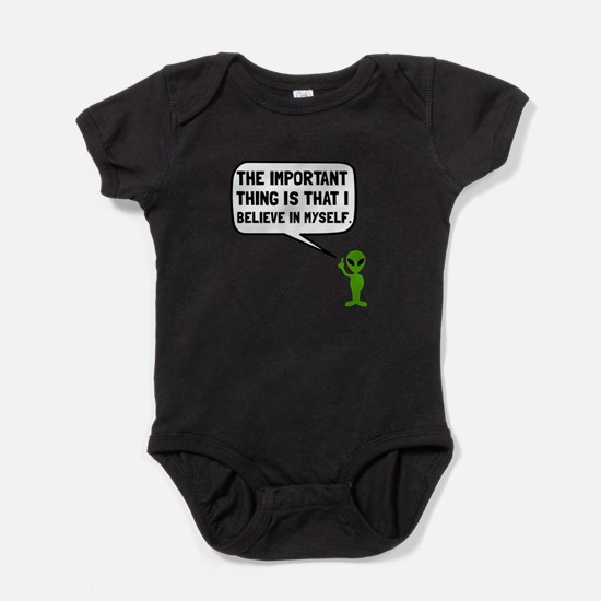 Alien Believe In Myself Baby Bodysuit