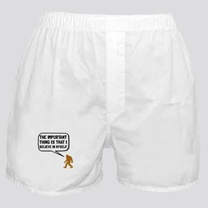 Bigfoot Believe In Myself Boxer Shorts