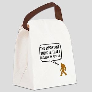 Bigfoot Believe In Myself Canvas Lunch Bag
