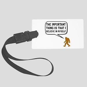 Bigfoot Believe In Myself Luggage Tag