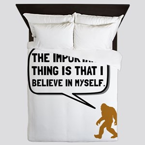 Bigfoot Believe In Myself Queen Duvet