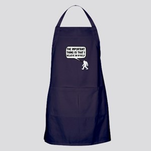 Bigfoot Believe In Myself Apron (dark)