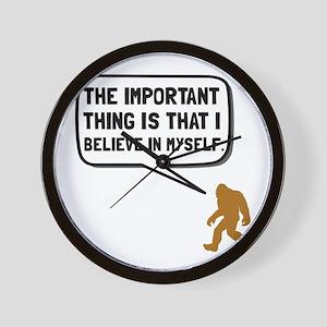 Bigfoot Believe In Myself Wall Clock