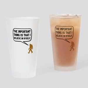 Bigfoot Believe In Myself Drinking Glass