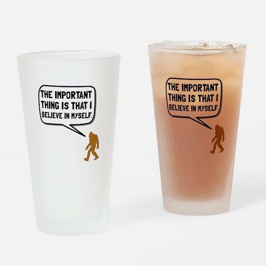 Bigfoot Believe In Myself Drinking Glass