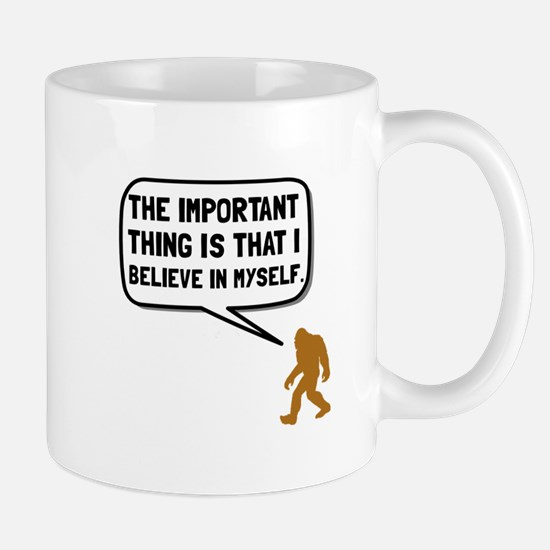 Bigfoot Believe In Myself Mugs