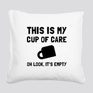 Cup Of Care Square Canvas Pillow