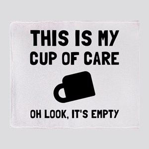 Cup Of Care Throw Blanket