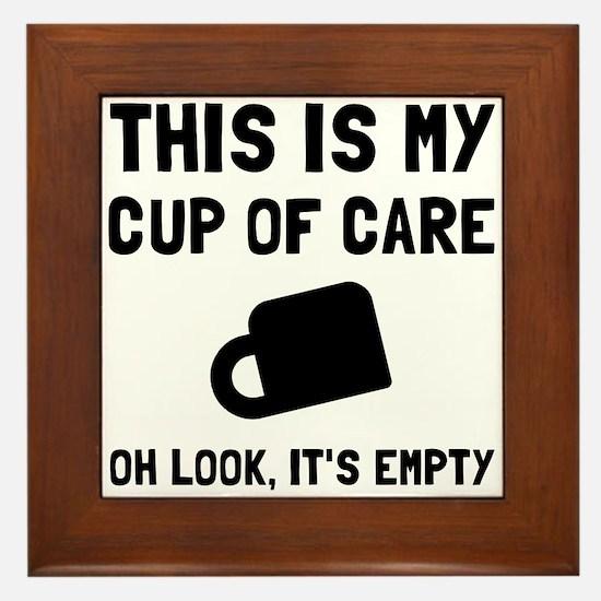 Cup Of Care Framed Tile