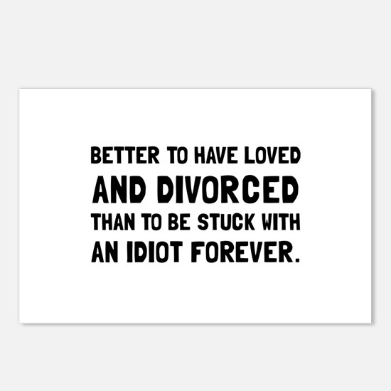 Divorced Idiot Postcards (Package of 8)