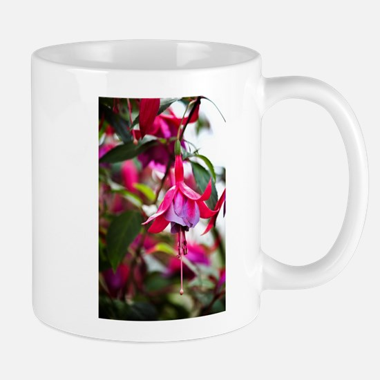 Pink Fuchsia Flower Mugs