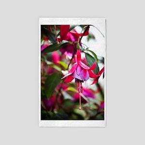 Pink Fuchsia Flower 3'x5' Area Rug