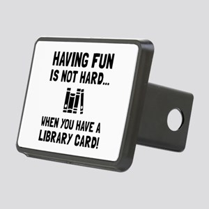 Library Card Fun Hitch Cover