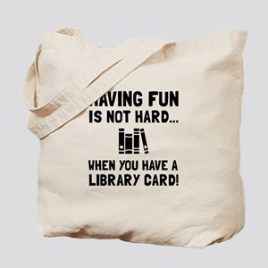 Library Card Fun Tote Bag