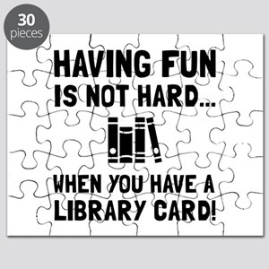 Library Card Fun Puzzle